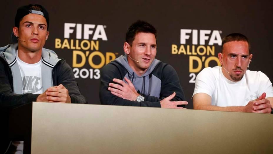 Cristiano Ronaldo, Messi e Franck Ribery, indicados ao prêmio Bola de Ouro 2013