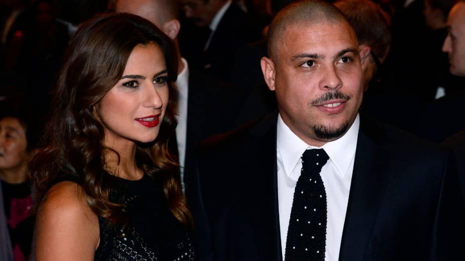 Ronaldo e sua namorada Paula Morais, durante o prêmio Bola de Ouro, em Zurique