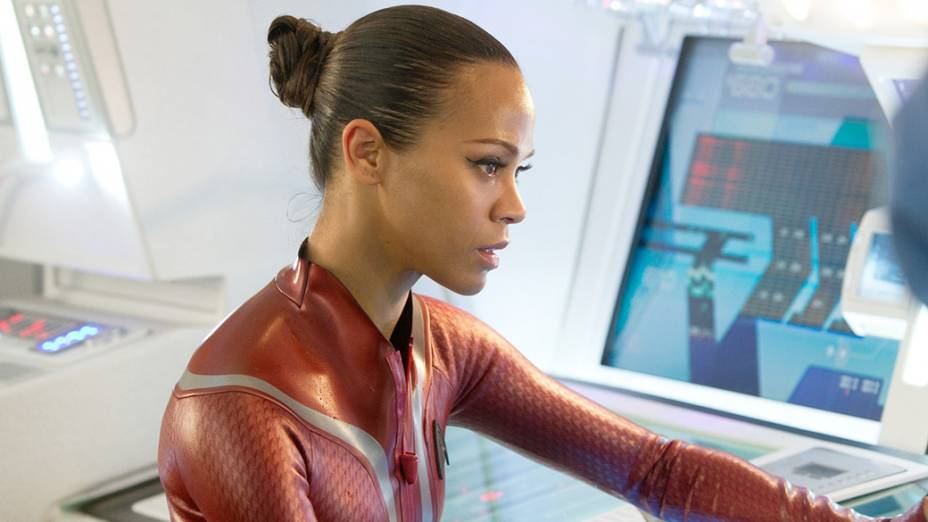 Uhura (Zoe Saldana) no filme Star Trek