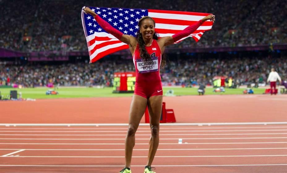 A americana Sanya Richards-Ross, campeã dos 400 metros rasos