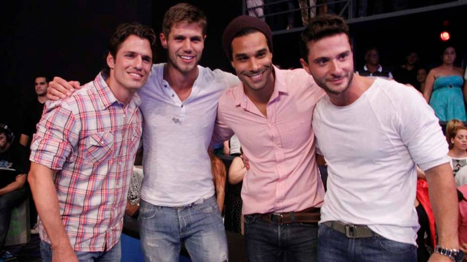 Ex-brothers durante final do BBB 12