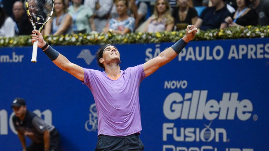Nadal bate Nalbandian e é bicampeão do Brasil Open