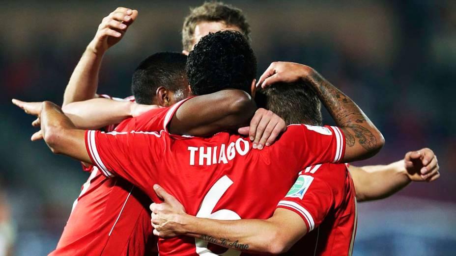 Bayern de Munique contra Raja Casablanca durante a final do Mundial de Clubes no Grand Stade de Marrakech (Marrocos)