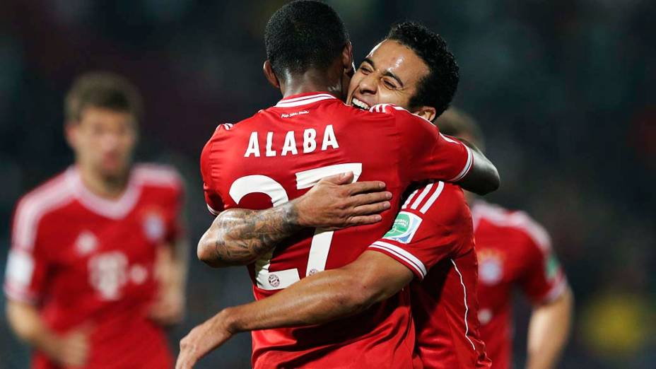 Thiago Alcantara durante a partida entre Bayern de Munique e Raja Casablanca válida pelo Mundial de Clubes da Fifa 2013, no estádio da cidade de Marrakech em Marrocos, neste sábado (21)