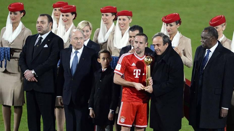 Frank Ribery é eleito melhor jogador do Mundial de Clubes da Fifa 2013, em Marrocos, neste sábado (21)