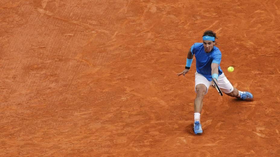 O tenista espanhol Rafael Nadal durante a final de Roland Garros, em Paris