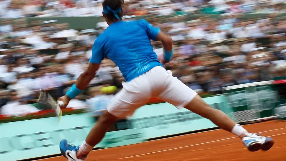O espanhol Rafael Nadal durante a final do torneio de Roland Garros