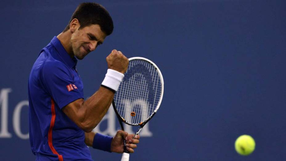 Djokovic durante final do US Open, em Nova York