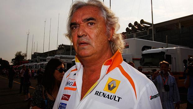 Flavio Briatore, o responsável por manipular o resultado do GP de Cingapura de 2008