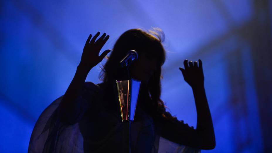 Florence and The Machine durante apresentação no Rock in Rio 2013