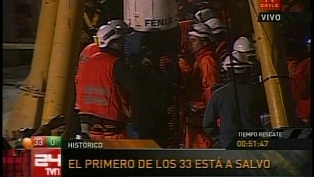 Florencio Ávalos é resgatado de mina