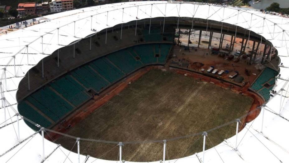 A Arena Fonte Nova, em Salvador, no início de fevereiro