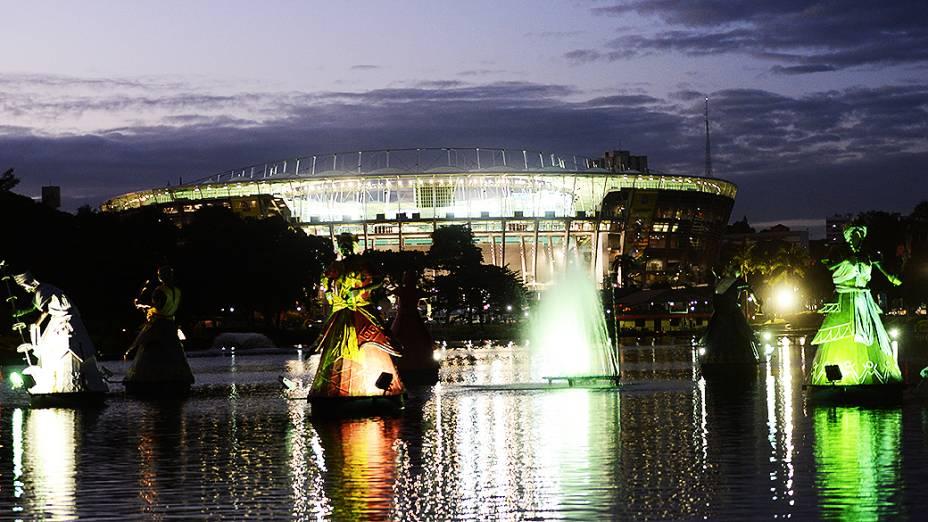 Arena Fonte Nova pronta para partida entre Brasil e Itália