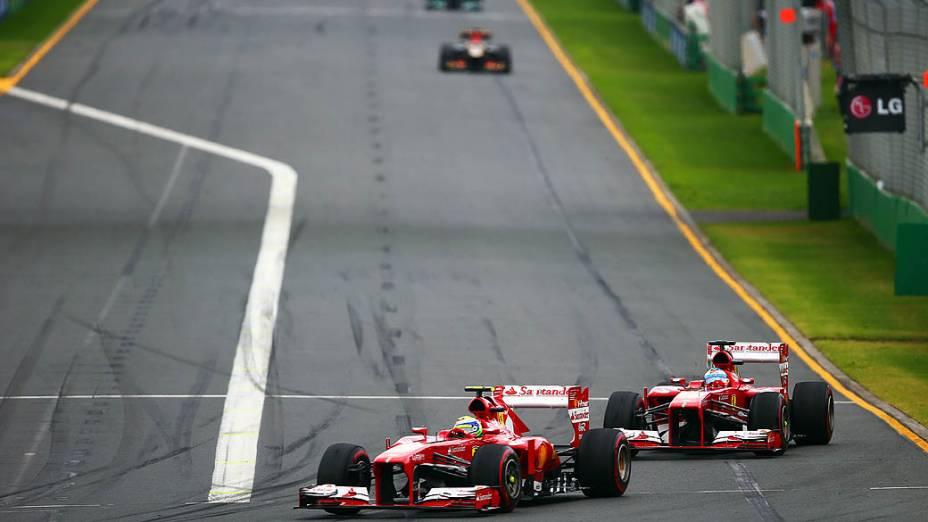 Felipe Massa chegou em quarto lugar