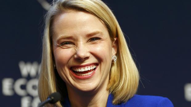 Marissa Mayer, CEO do Yahoo, em Davos
