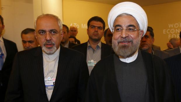 O presidente iraniano, Hassan Rouhani, no Fórum Mundial
