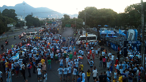 Chegada ao Maracanã na partida Argentina x Bósnia
