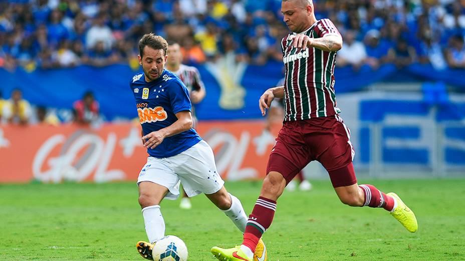 Partida entre Cruzeiro e Fluminense, válida pela 33ª rodada do Campeonato Brasileiro 2014, no Mineirão, em Belo Horizonte (MG)