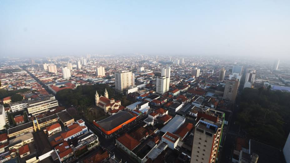Cidade de Rio Claro no interior paulista