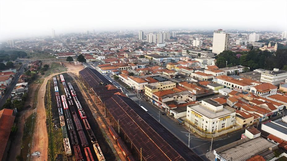 Estação ferroviária na cidade de Rio Claro no interior paulista