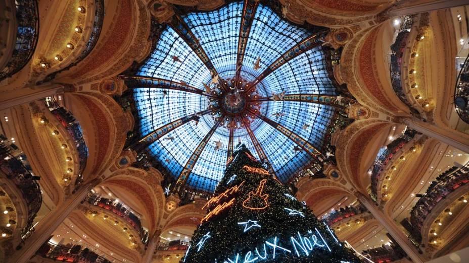 Loja de departamento Lafayette em Paris, França