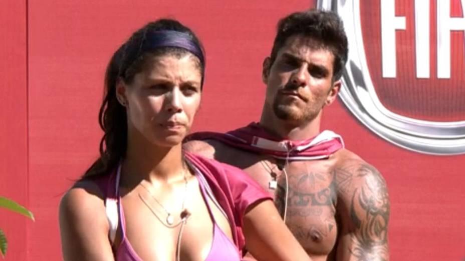 Franciele e Diego na prova do líder do BBB14