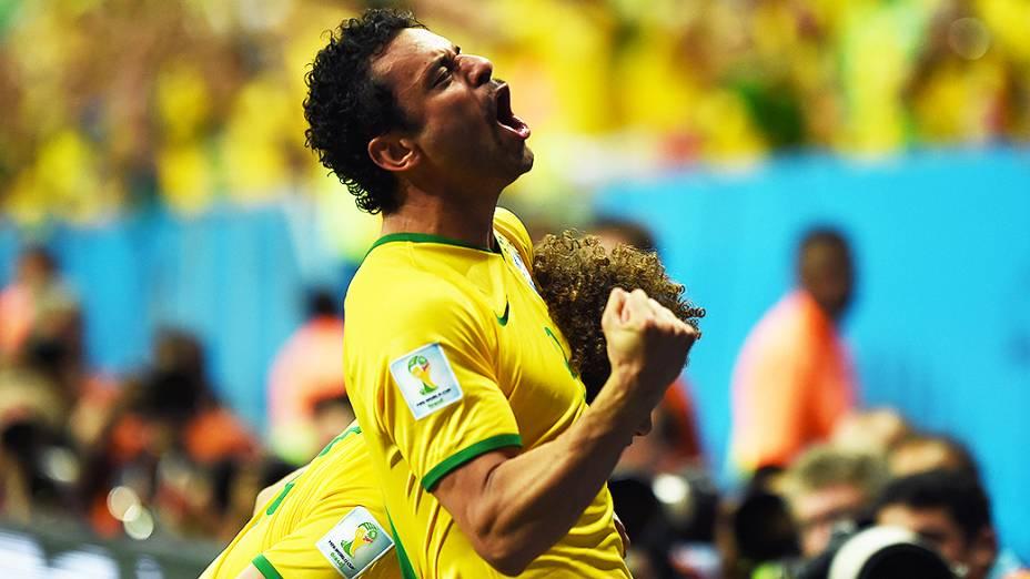 O atacante Fred, que desencantou e marcou seu primeiro gol nesta Copa do Mundo na partida disputada em Brasília, contra Camarões