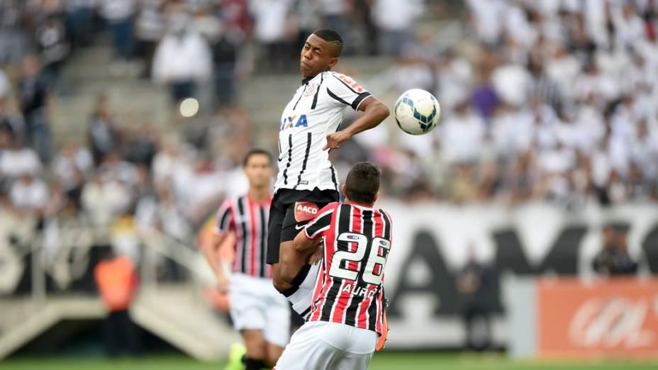 Partida entre Corinthians e São Paulo realizada no Itaquerão