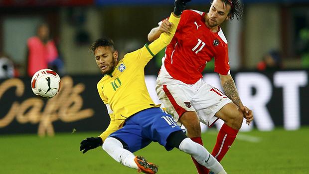 Partida entre Brasil e Austria realizada em Viena