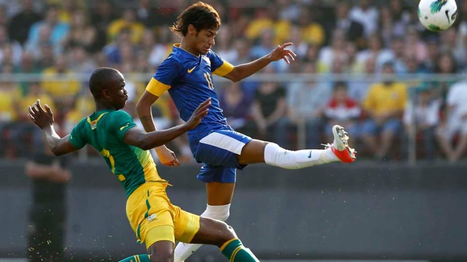 Neymar durante amistoso realizado no estádio do Morumbi, em São Paulo