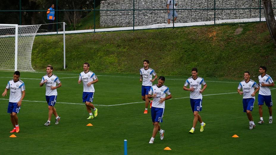 Seleção da Argentina durante o treino, em Belo Horizonte, Minas Gerais