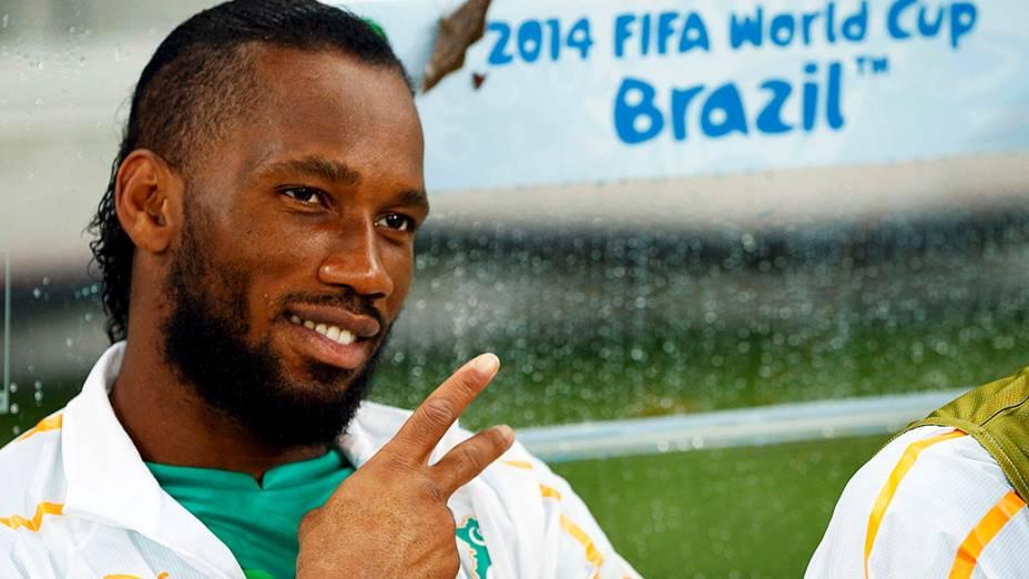 O jogador Didier Drogba, da Costa do Marfim