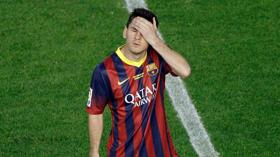 Messi lamenta novo revés do Barcelona