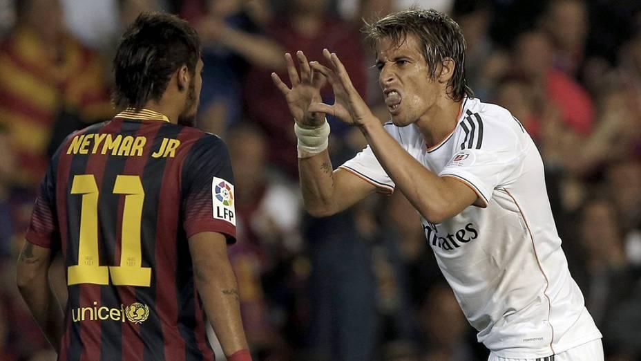 Neymar também discutiu com Fabio Coentrão