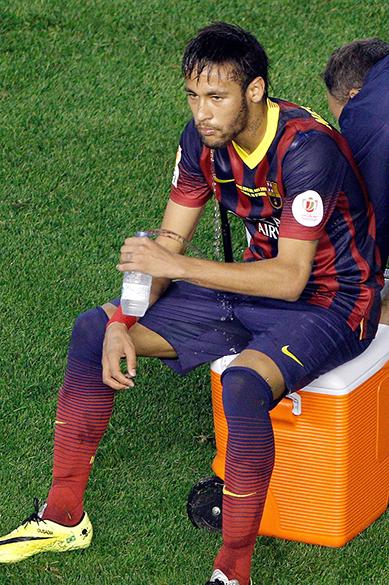 Neymar após a derrota do Barcelona contra o Real Madrid na Copa do Rei