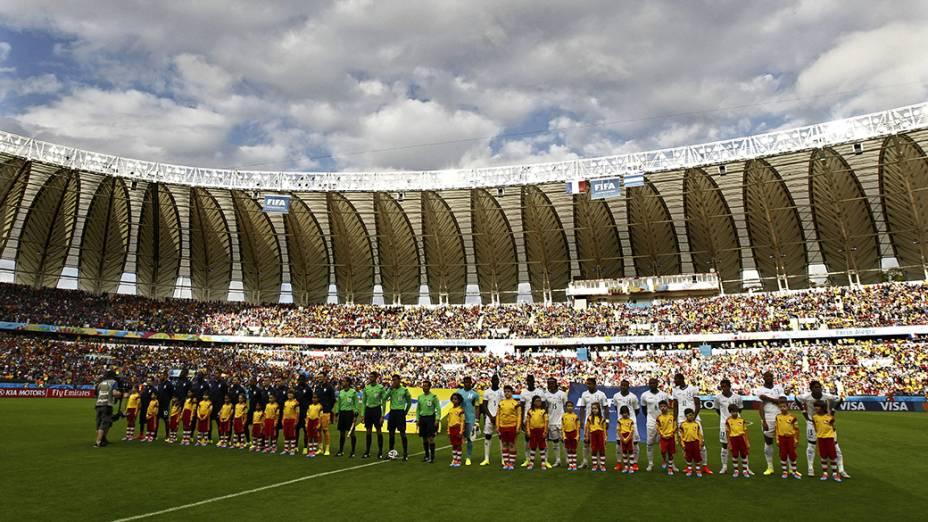 Vista geral do Beira-Rio no jogo entre França e Honduras, em Porto Alegre