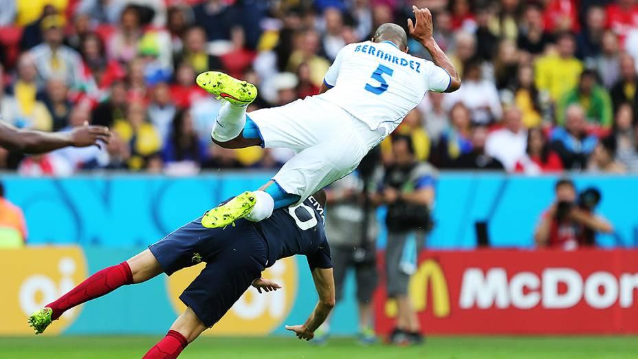 Lance no jogo entre França e Honduras no Beira-Rio, em Porto Alegre