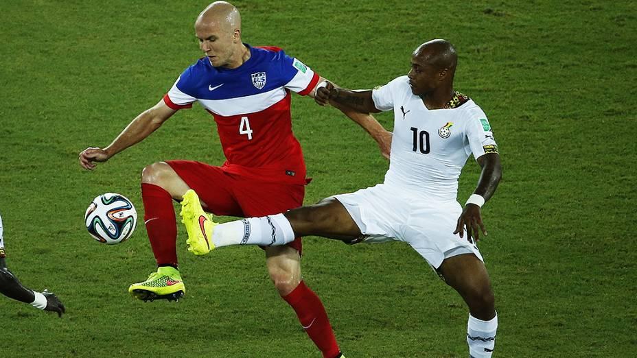 Lance no jogo entre Gana e EUA na Arena das Dunas, em Fortaleza