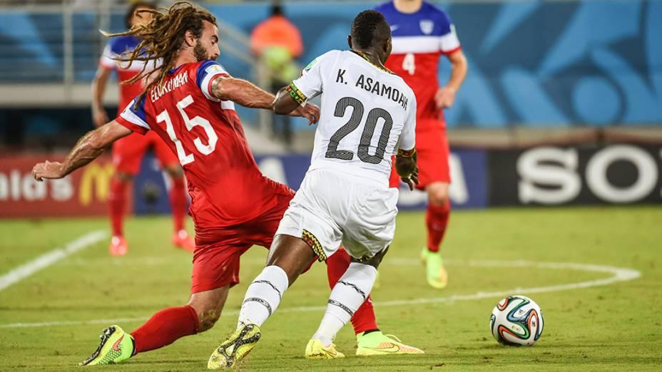 Lance do jogo entre Gana e Estados Unidos na Arena das Dunas, em Natal