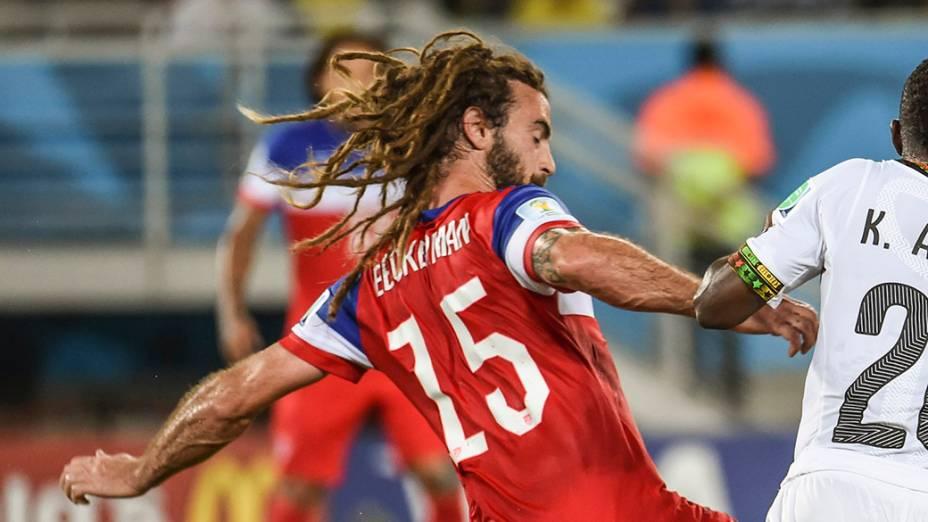 Kyle Beckerman, dos Estados Unidos, durante o jogo contra Gana