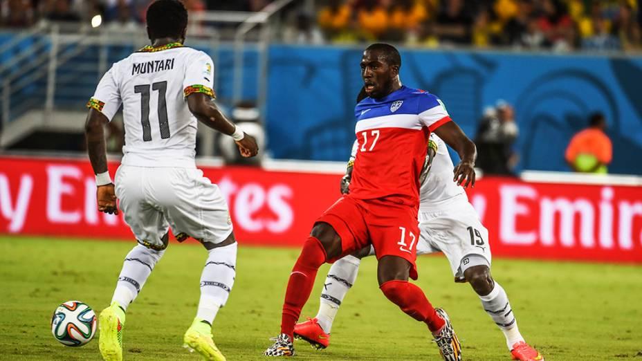Lance no jogo entre Gana e EUA na Arena das Dunas, em Natal