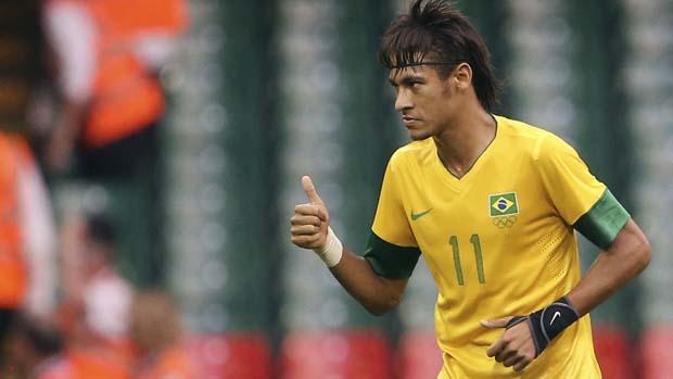 Neymar na partida contra o Egito válida pela primeira rodada dos Jogos Olímpicos de Londres 2012