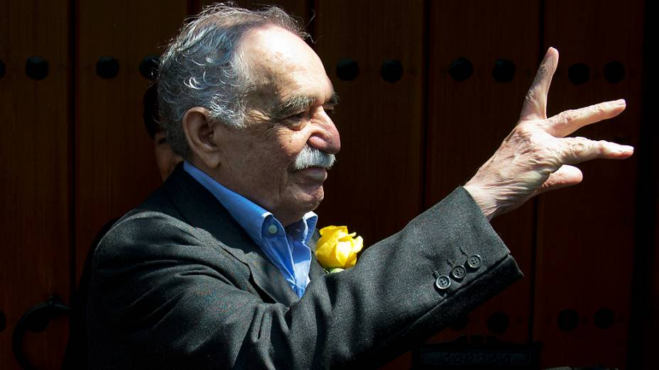 O escritor colombiano Gabriel García Márquez em 2014