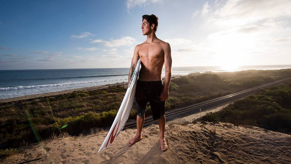 O surfista brasileiro Gabriel Medina em Trestles, na Califórnia