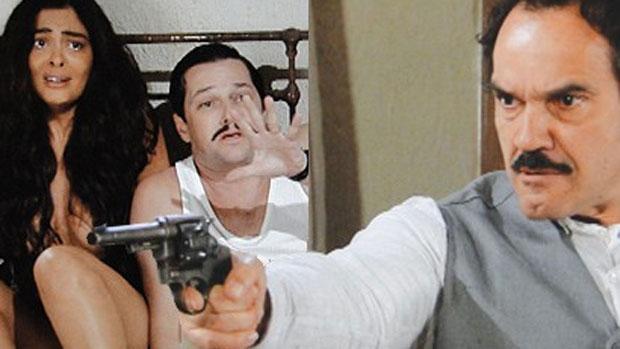 Nacib flagra Gabriela e Tonico na cama e ameaça matá-los