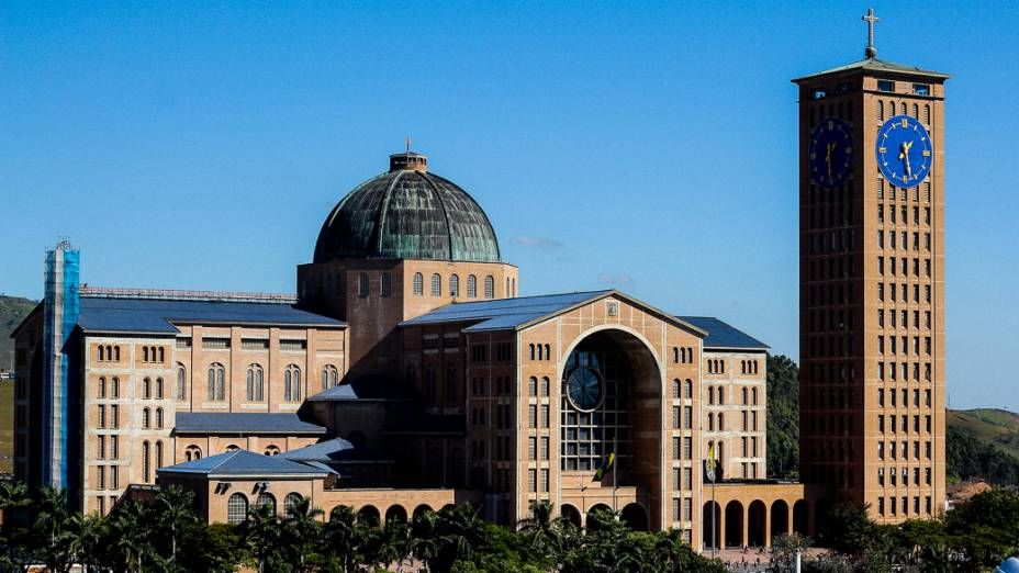 Vista geral do Santuário Nacional de Nossa Senhora Aparecida, na cidade de Aparecida do Norte que receberá a visita do papa Francisco durante a Jornada Mundial da Juventude em julho