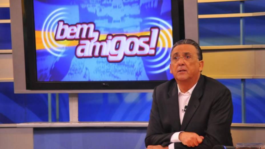 Galvão Bueno no programa Bem, Amigos, do Sportv