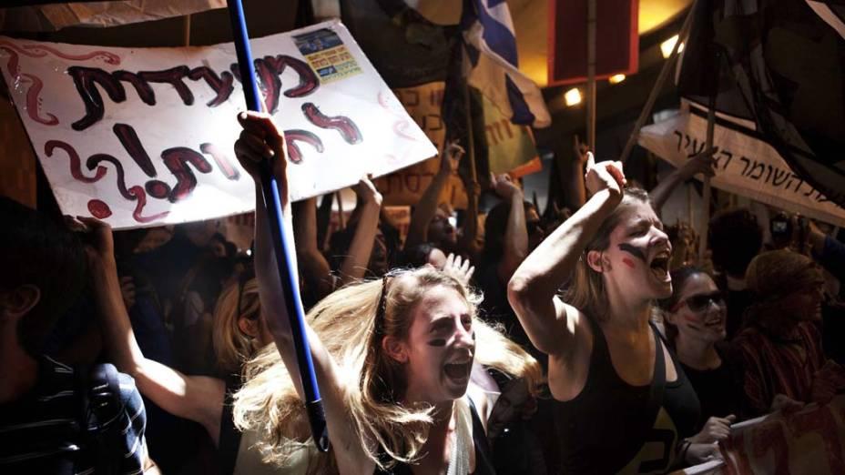 Em Jerusalém, manifestantes protestam contra os altos preços de moradia e problemas sociais