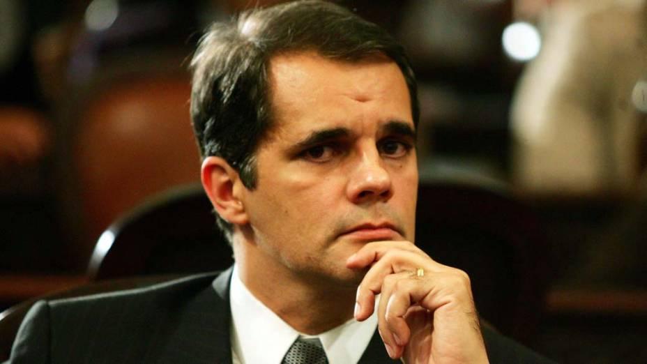Álvaro Lins durante votação do pedido de cassação de seu mandato na Assembleia Legislativa do Rio de Janeiro, em 12/08/2008
