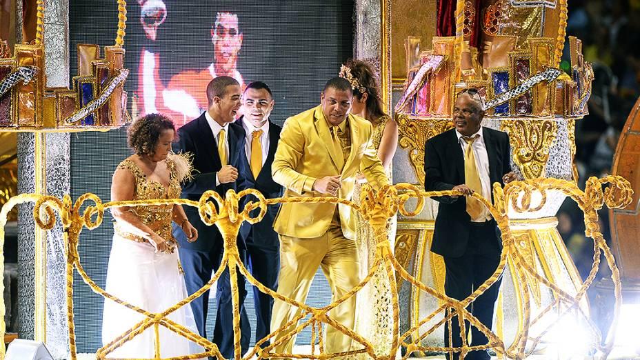 Desfile da Gaviões da Fiel, no Sambódromo do Anhembi